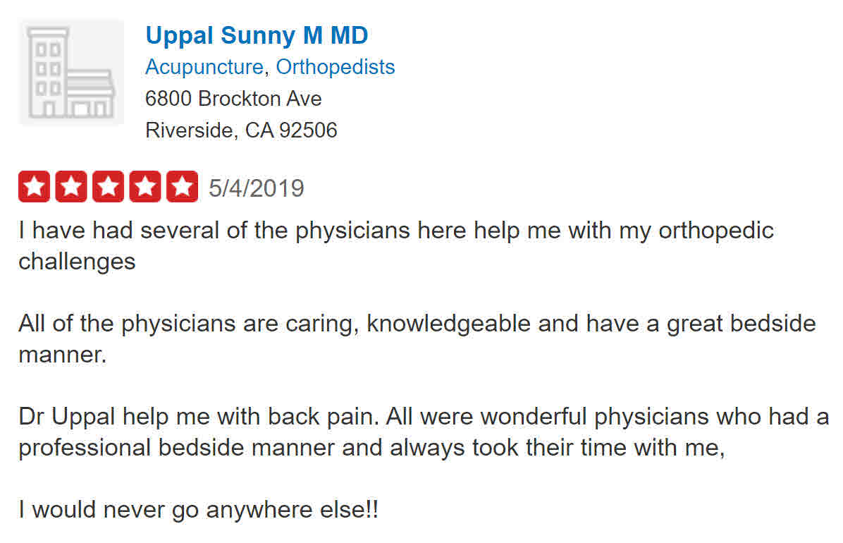 Review of Dr. Gurvinder (Sunny) Uppal